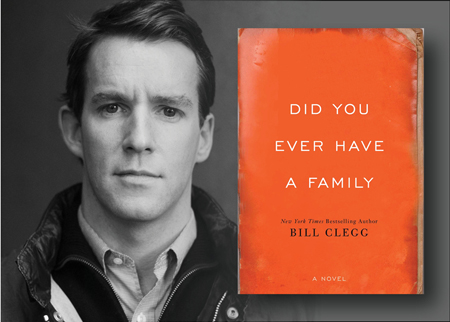 Bill Clegg portrait and novel cover image