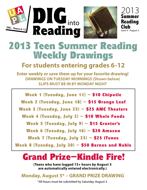 Flier Teen SRC 2013 prize drawing