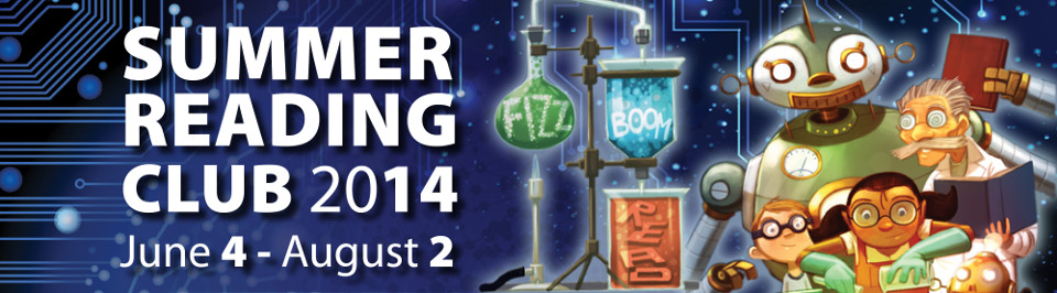 Summer Reading Club 2014 Fizz Boom Read banner