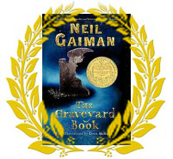 Gaiman Graveyard Book with Laurel Wreath