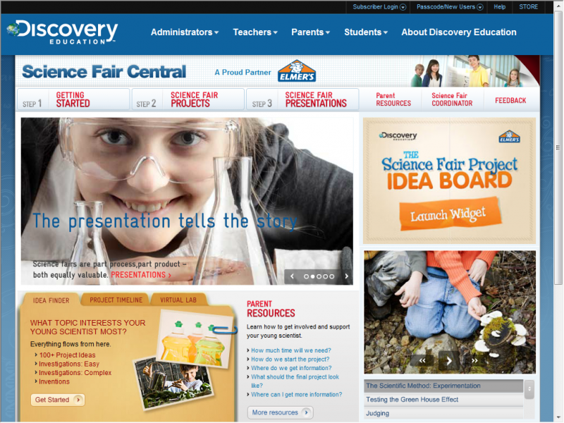 Sciencefair Central screenshot