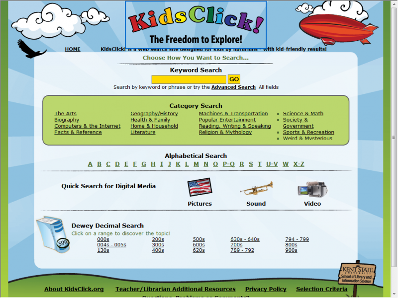 Kidsclick site