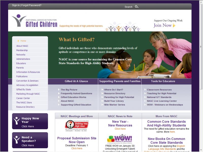 NAGC site screenshot