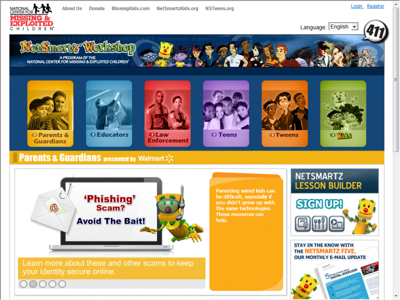 NetSmartz site screenshot
