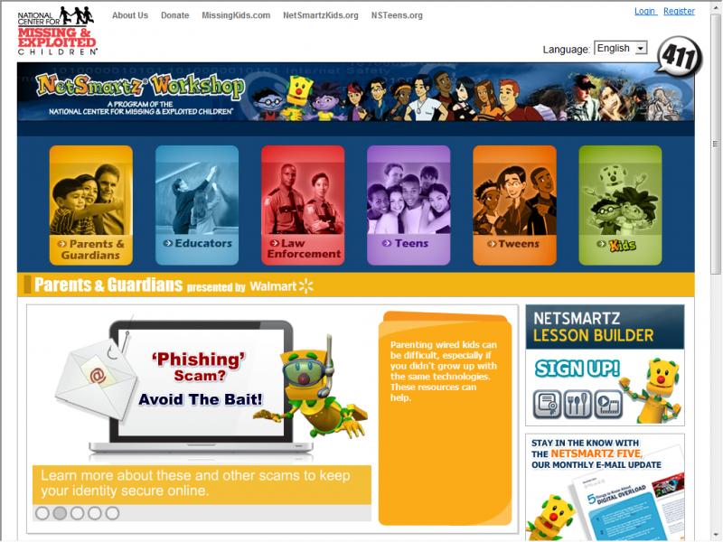 NetSmartz site screenshot