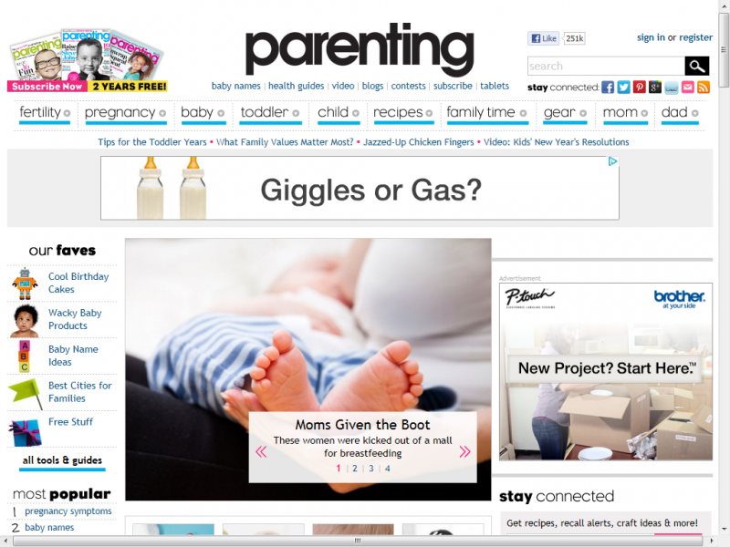 Parenting.com site screenshot
