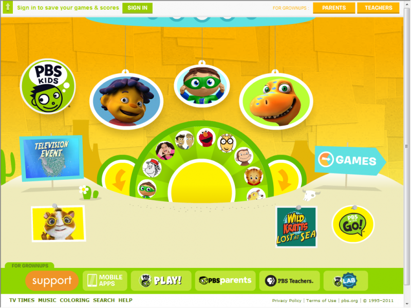 PBSKids screenshot