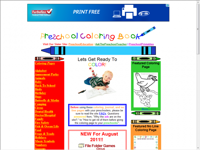 Preschool coloringbook screenshot