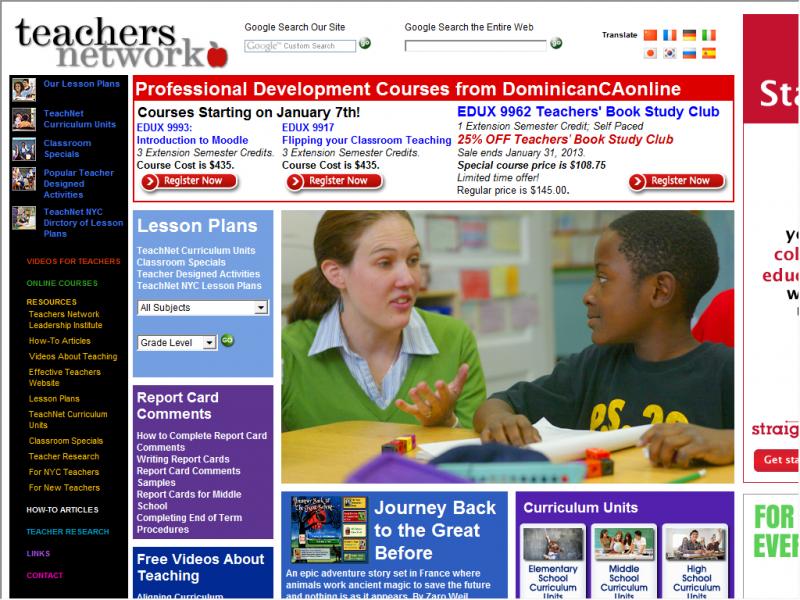 TeachNet site screenshot