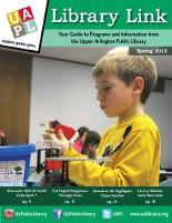 Cover of program guide: boy playing with Legos