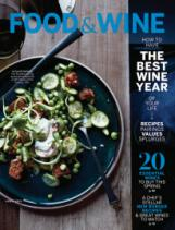 Food and wine magazine cover
