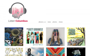 Screenshot from listen columbus website