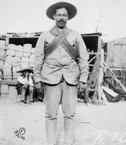 Black and white photograph of Mexican revolutionary Pancho Villa