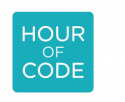 Blue box that reads Hour of Code