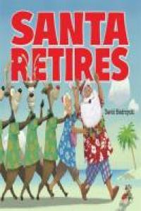 Santa, Mrs. Claus and the reindeer at the beach.