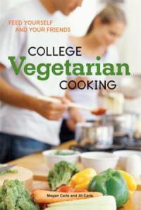 Two college-age students cooking