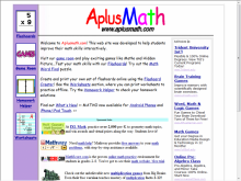 A+ Math site screenshot