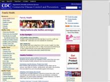 CDC Family site screenshot