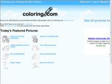 Coloring.com site screenshot