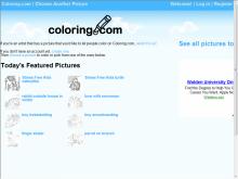 Coloring.com site screenshot