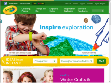 Crayola site screenshot