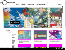 Exploratorium site screenshot