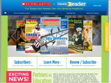 Weekly reader site screenshot