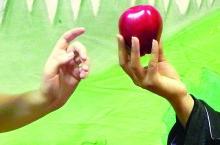 Snow White - apple close-up