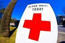 Red Cross Blood Drive sign