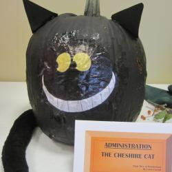 Pumpkin Likeness of The Cheshire Cat