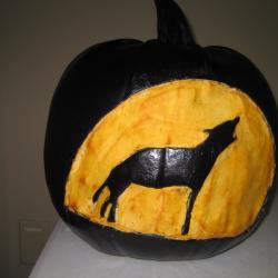 Pumpkin Likeness of The Hound of the Baskervilles