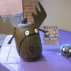 "Pumpkin Likeness of ""Rocky and Bullwinkle"""