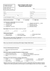 ApplicationPreview Volunteer Application Form Public Liry on