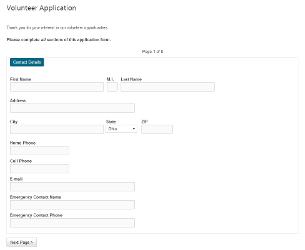 volunteer_application_online Volunteer Application Form Public Liry on
