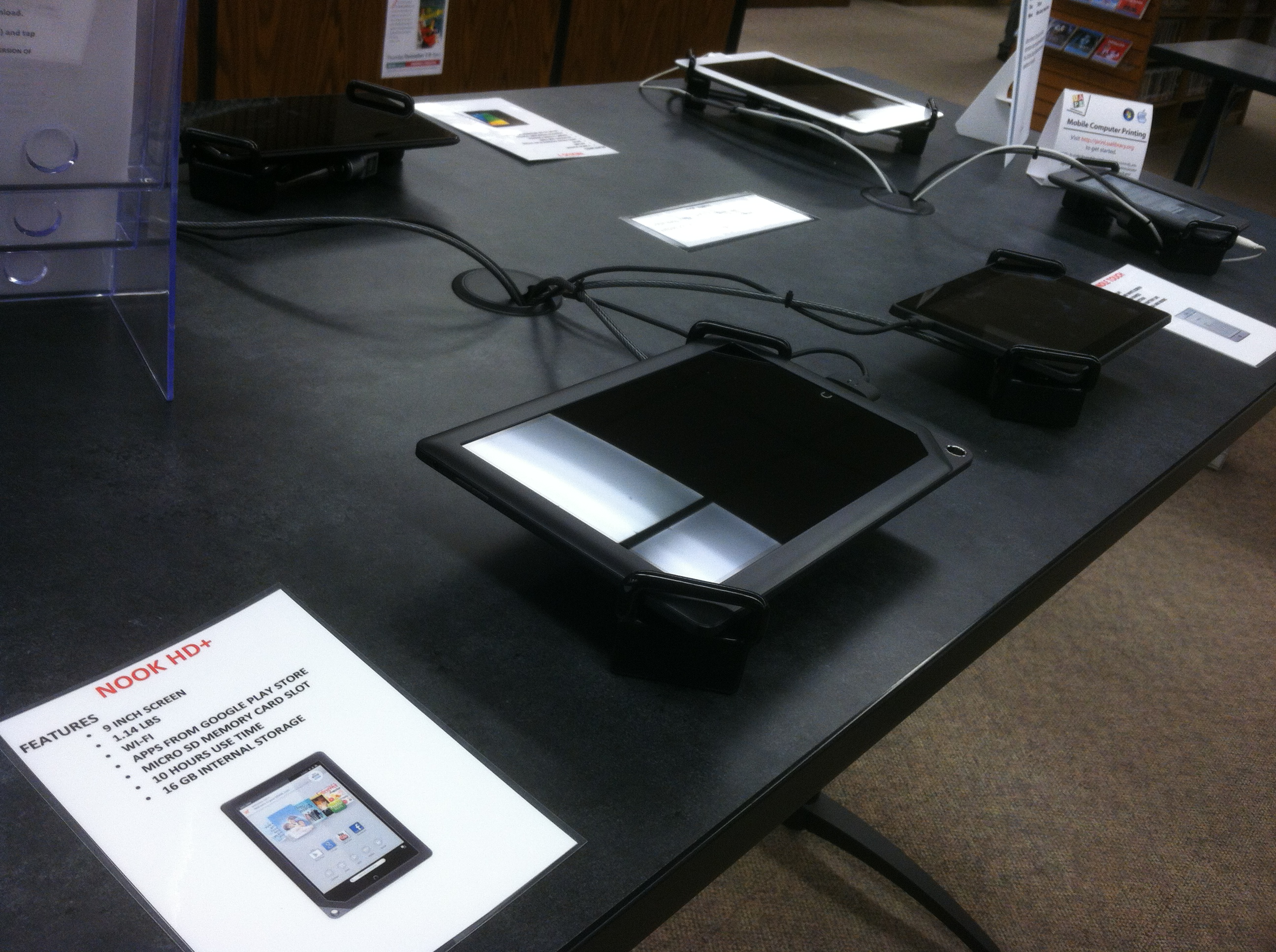 Tablets on a table