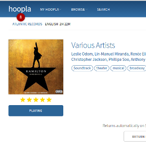 Screenshot from the Hoopla website