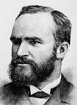 Ink portrait of Melvil Dewey
