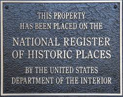 Plaque National Register of Historic Places