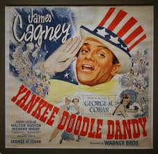 Poster advertising the movie Yankee Doodle Dandy with James Cagney