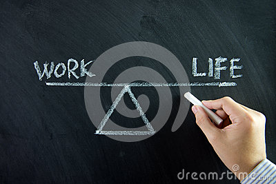 Image - Scales with Work-Life Balance in Chalk Drawing