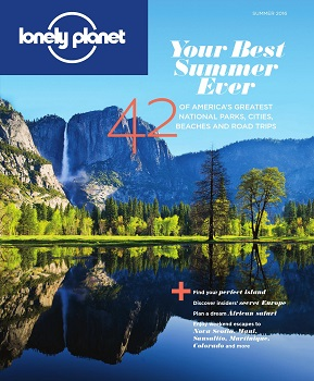 cover of Lonely Planet magazine, mountains
