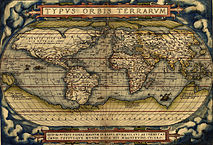 World map by Ortelius, 1570