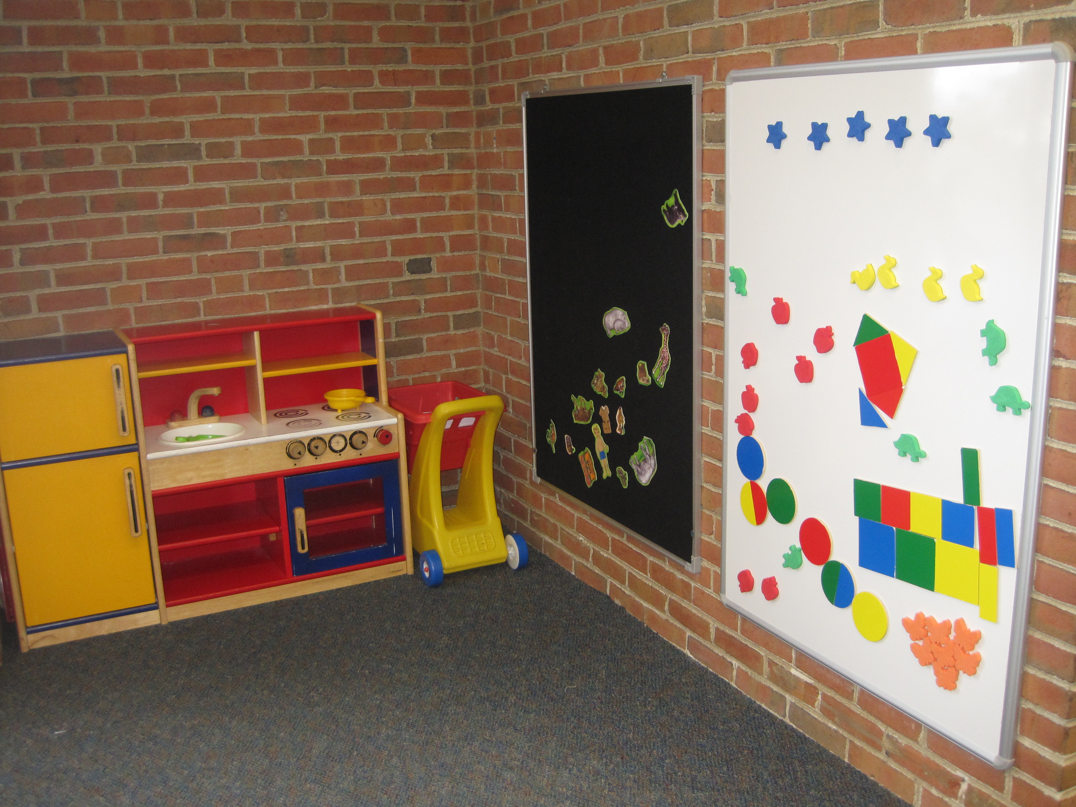 Tremont Early Learning Center activity wall