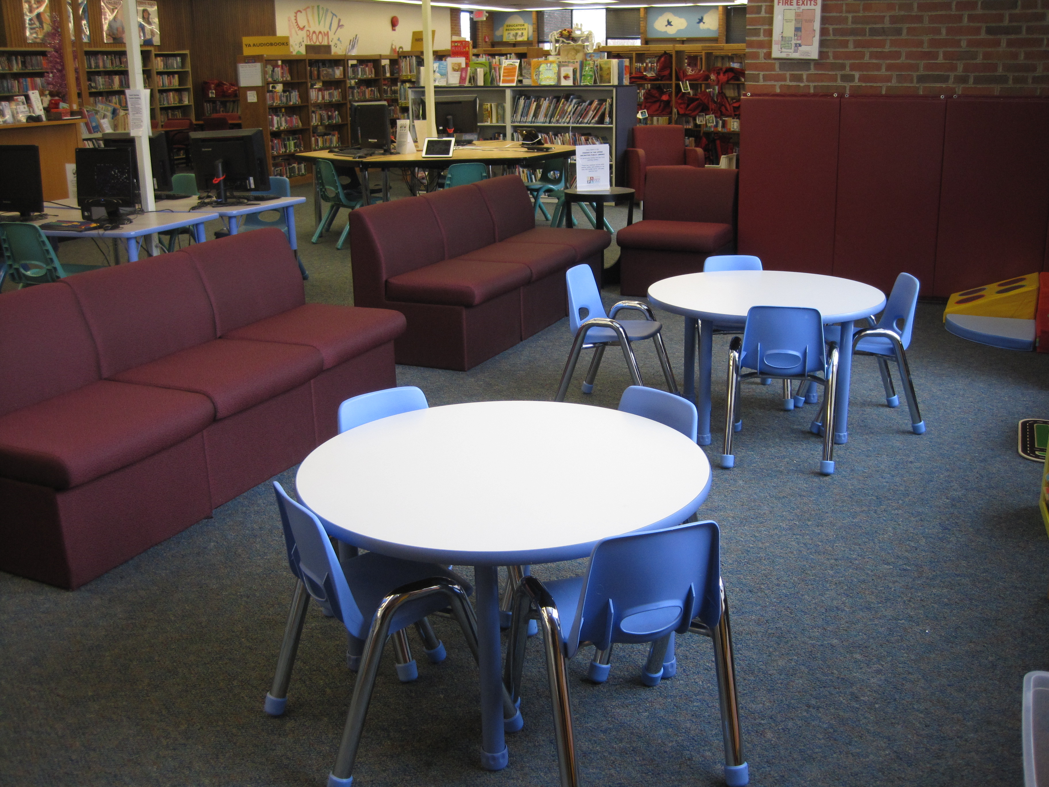 Tremont Early Learning Center chairs and kids tables