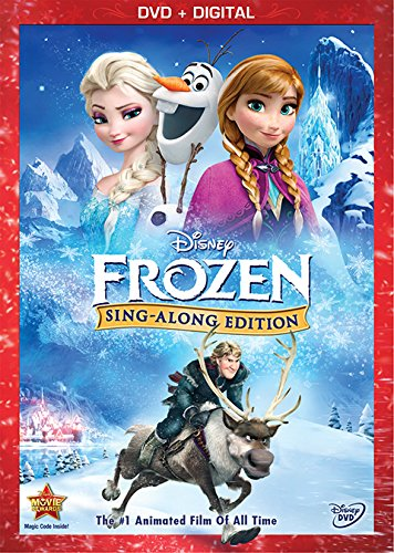 DVD cover for Disney's Frozen Sing-a-long Version